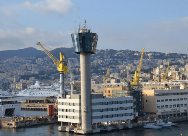 Genoa port control tower. Photo: Panoramio