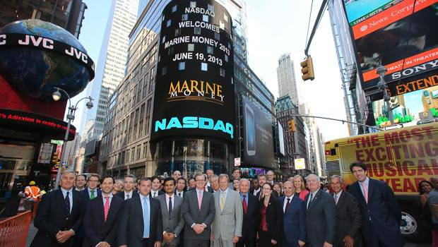 Marine Money and Clarkson Capital Markets at the NASDAQ Closing Bell during Marine Money Week, June 19, 2013. Photo courtesy Marine Money.