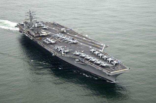 USS Nimitz at sea. U.S. Navy photo