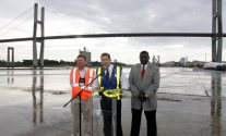 In a news conference marking the arrival of the cranes, Georgia Ports Authority Executive Director Curtis Foltz said the new cranes constitute a total investment of $40 million. (Georgia Ports Authority)