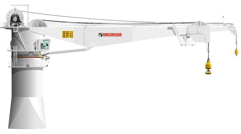 MacGregor 900t AHC subsea crane