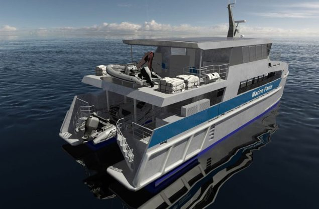 CATAMARAN PATROL VESSEL TO PROTECT GREAT BARRIER REEF