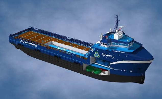 An illustration of Harvey Gulf's LNG-powered OSVs. Image courtesy Harvey Gulf