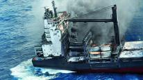 Fire Scorched Hansa Brandenburg Reaches Mauritius