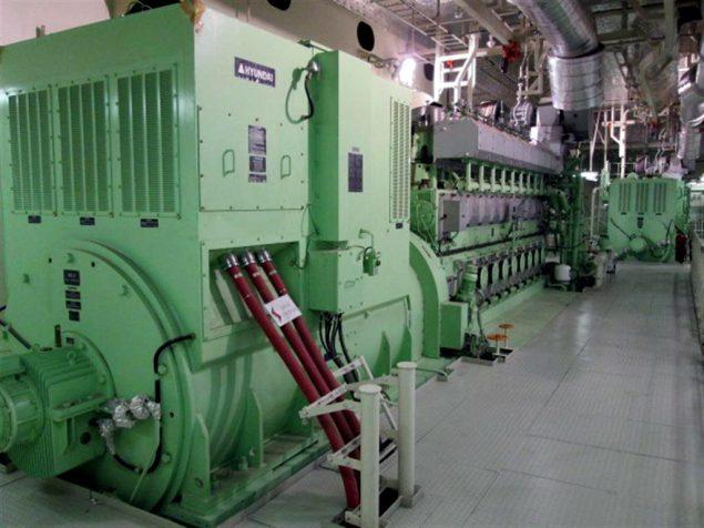 maersk triple e engine room