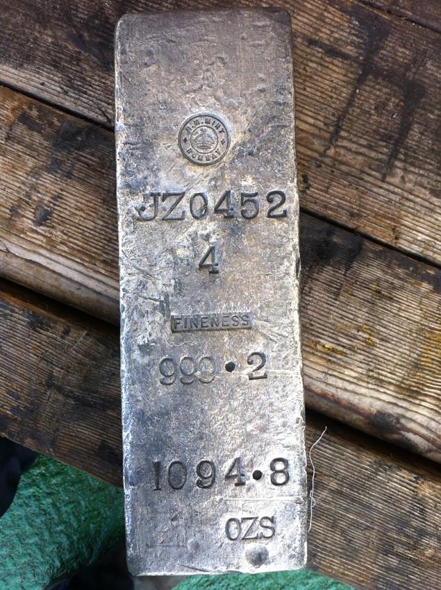 silver ingot ss gairsoppa odyssey marine exploration