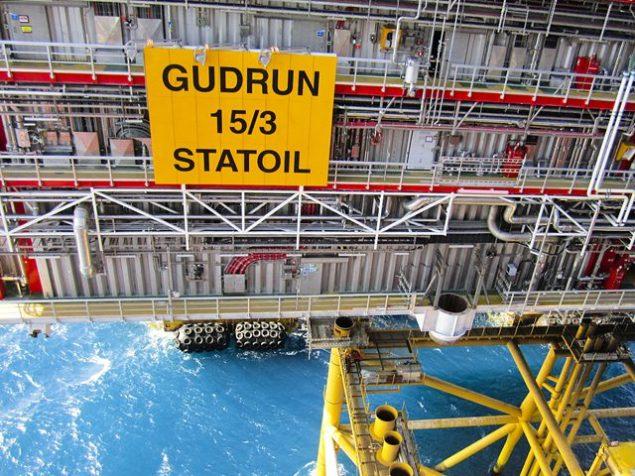 Gudrun topsides installation