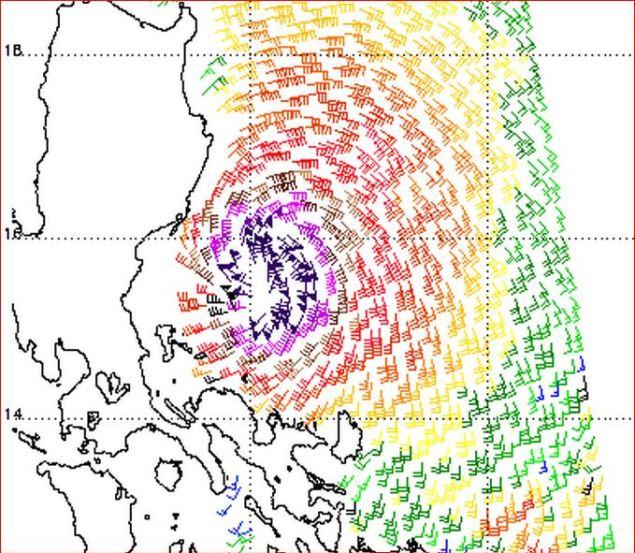 ASCAT typhoon utor