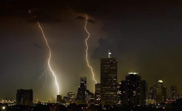 houston lightning storm
