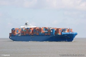 m/v puelo containership