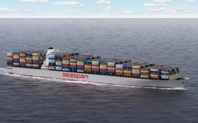 Seaspan's SAVER hull design was developed with a low cost profile in mind. Image courtey Seaspan Corp.
