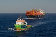 Ship Photos of The Day – World's First Offshore-Moored FSRU Delivered Offshore Livorno