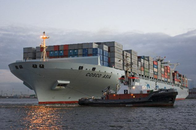 Cosco Asia, image courtesy Port of Hamburg