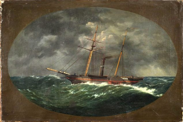 In 1852, W.A.K. Martin painted this picture of the Robert J. Walker. The painting, now at the Mariner's Museum in Newport News, Va., is scheduled for restoration. Image credit: The Mariners' Museum