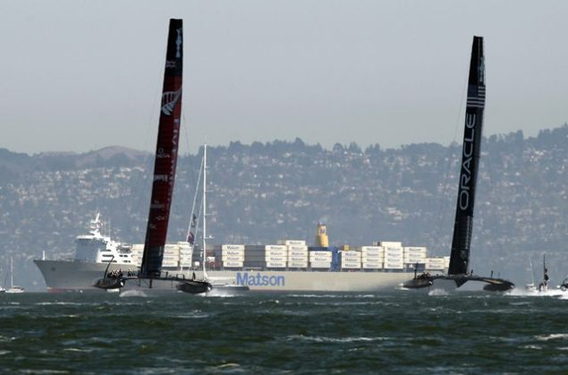 americas cup matson containership san francisco