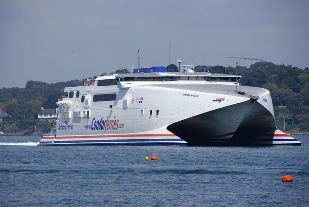 File photo of the Condor Vitesse high-speed ferry.