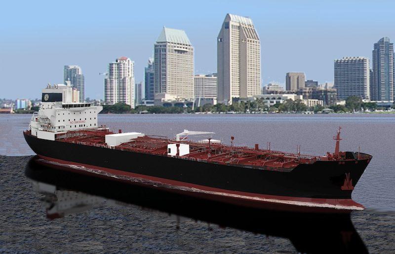 An illustration of DSEC's ECO tanker design. Image credit: General Dynamics NASSCO
