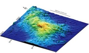 3D plot of the topography of Tamu Masif. Image courtesy