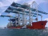Massive Super Post-Panamax Cranes Arrive at PortMiami [PHOTOS]