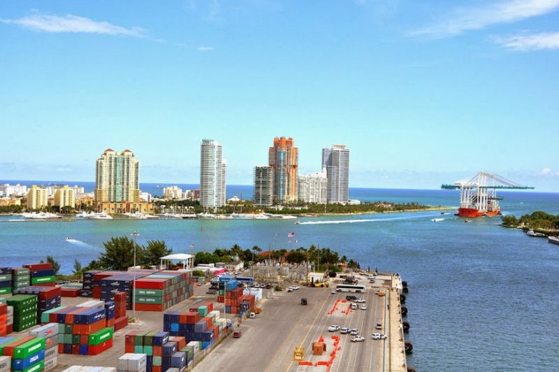 Four new Super Post-Panamax cranes arrive at PortMiami from China in October 2013. Photo: PortMiami