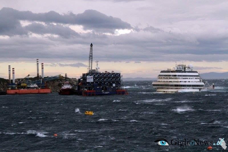 The Costa Concordia shipwreck pictured November 11, 2013. Image courtesy GiglioNews.it
