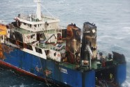 New Photos Reveal Damage to Fire Scorched MV Fernanda Off Iceland