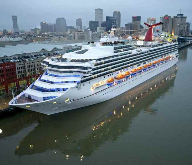 The Carnival Sunshine is seen docked at the Port of New Orleans, November 18, 2013. Photo courtesy Carnival Cruise Lines