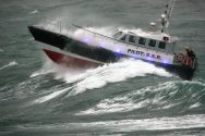 Ship Photos of The Day – Interceptor 48 Rescue Boat in Heavy Surf Sea Trials
