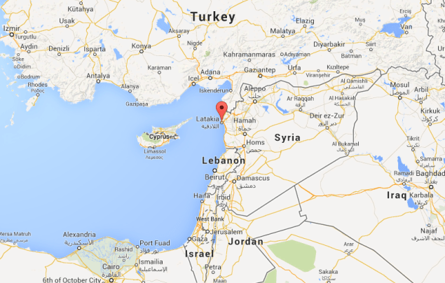Pin shows the port city of Latakia, where the chemical weapons will be loaded onto a ship.