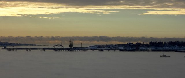 portland montreal pipeline sea fog smoke
