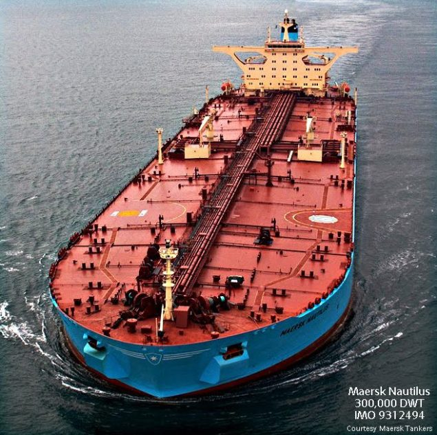 maersk nautilus tanker vlcc crude carrier