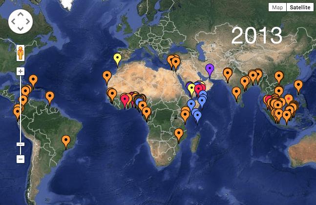 2013 Live Piracy Map