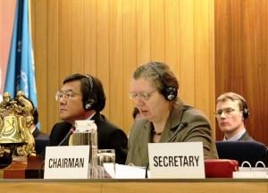 IMO Secretary-General Koji Sekimizu and SDC Chairman