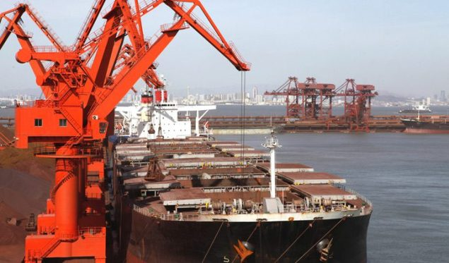 iron ore bulk carrier loading terminal shipping dry cargo
