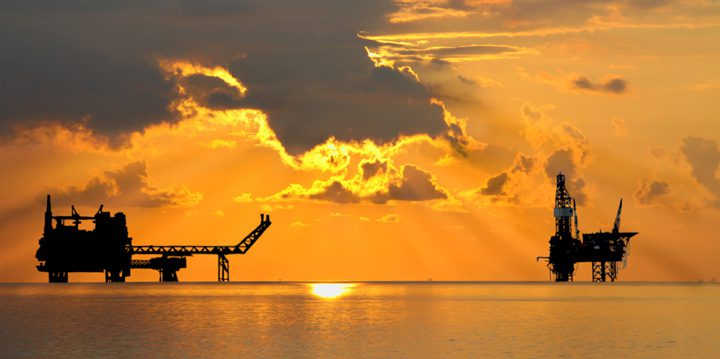 jack-up rig sunset offshore