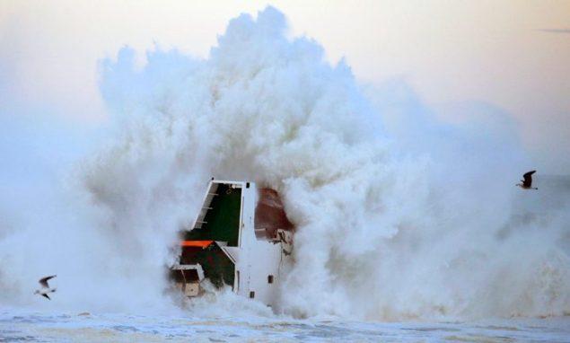 mv luno anglet france shipwreck reuters