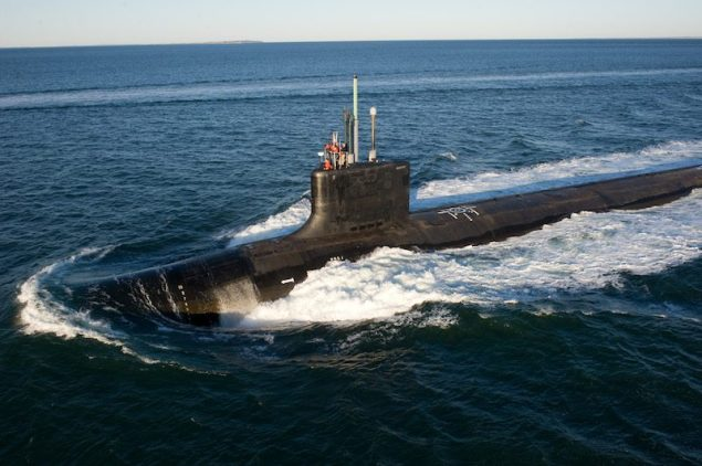 File photo of a Virginia-class submarine. U.S. Navy Photo
