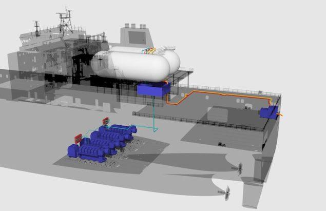 TOTE conversion with Wärtsilä engines and LNGPac systems. Illustration  courtesy Wärtsilä