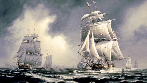 Brig HMS Moira Hotly Engaged