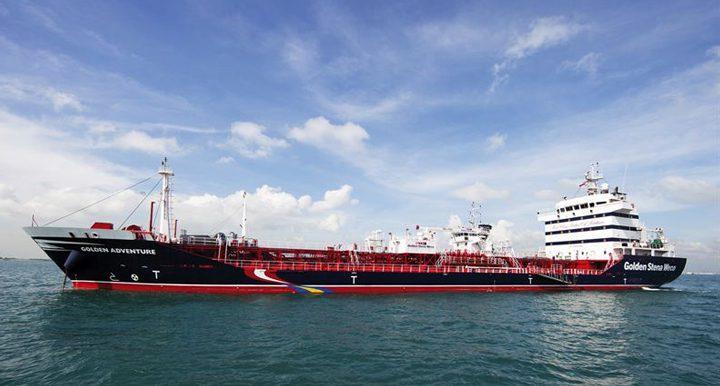 golden adventure stena chemical tanker