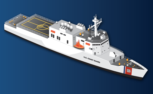 A conceptual illustration of the Offshore Patrol Cutter