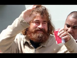 Jose Salvador Alvarenga pictured upon his arrival in the Marshall Islands.