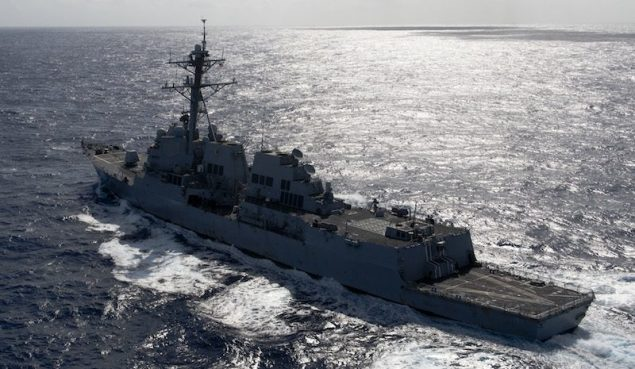 U.S. Navy assets continue to search for Malaysia Airlines Flight MH370 as the Arleigh Burke-class destroyer USS Kidd (DDG 100) expands its patrol area from the northwest entrance of the Strait of Malacca into the Indian Ocean and Andaman Sea, March 16th. U.S. Navy File Photo