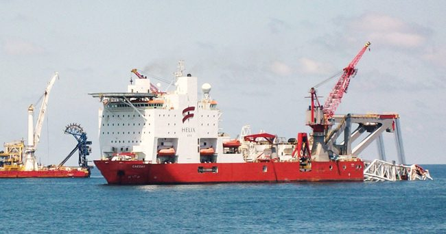 helix esg ceasar s-lay pipelay vessel