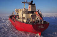 VIDEO: Polar Class Cargo Ship Uses Drones to Scope Ice