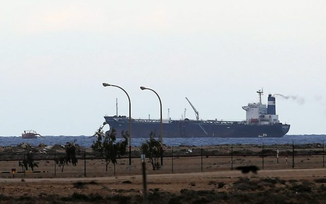 The Morning Glory tanker loaded with rebel crude docked at the Es Sider export terminal in Ras Lanuf March 8, 2014. REUTERS/Esam Omran Al-Fetori