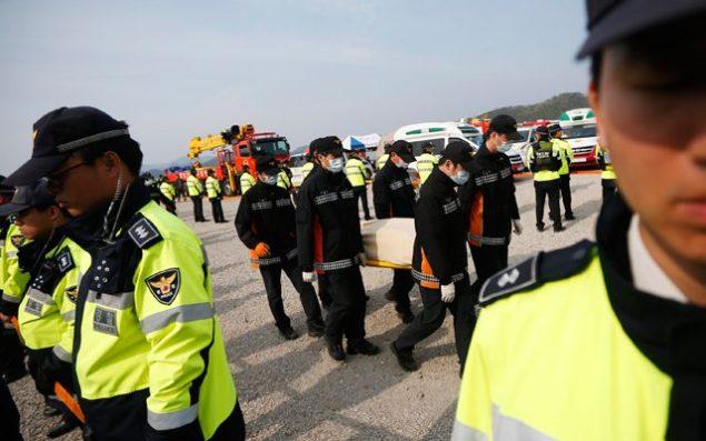 rescue workers capsized sewol korea