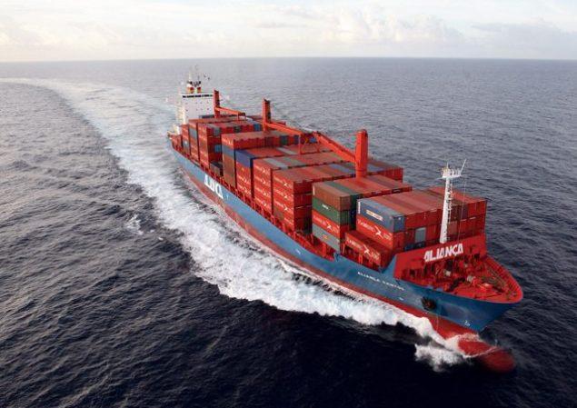 alianca santos containership hamburg sud