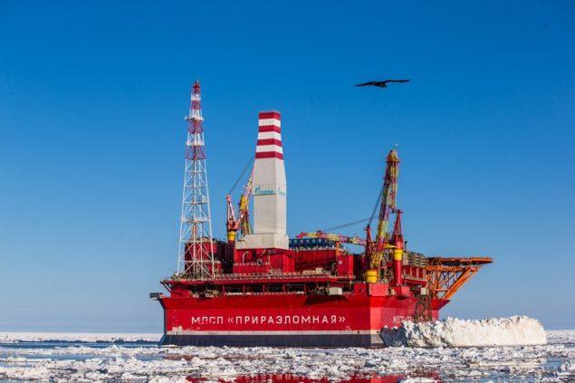 Prirazlomnaye platform gazprom