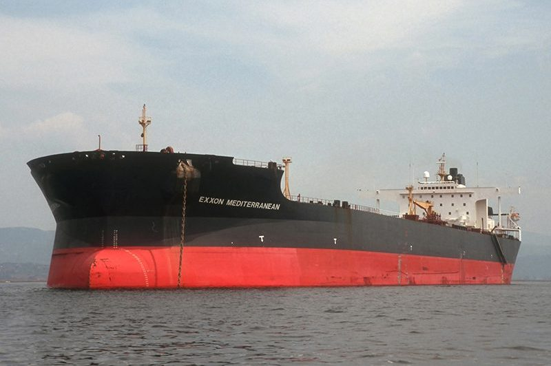 Ship Exxon Mediterranean in Trieste, Italy, July 1991.